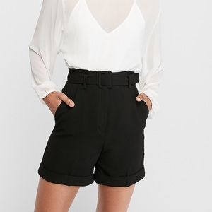 Super High Waisted Belted Bermuda Shorts Sz 6 NWT